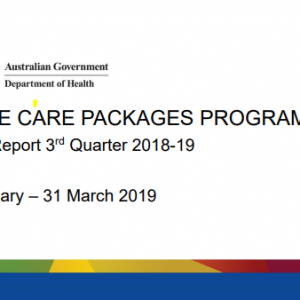Department of Health Home Care Package cover page