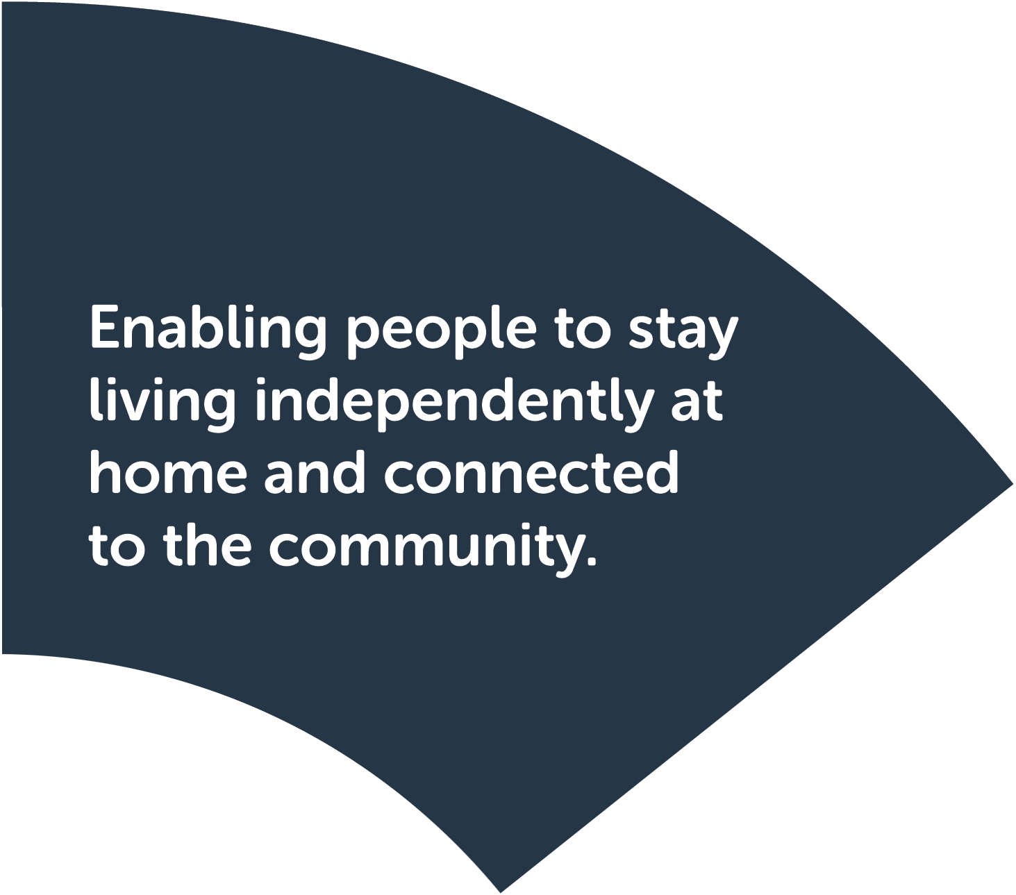 Step 1: Welcome to Care Connect. Enabling people to stay living independently at home and connected to the community.