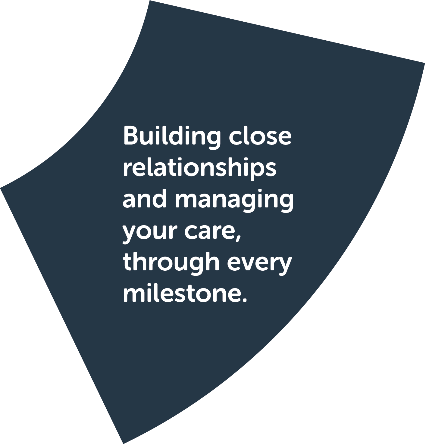 Step 3: Plan my future. Building close relationships and managing your care, through every milestone.