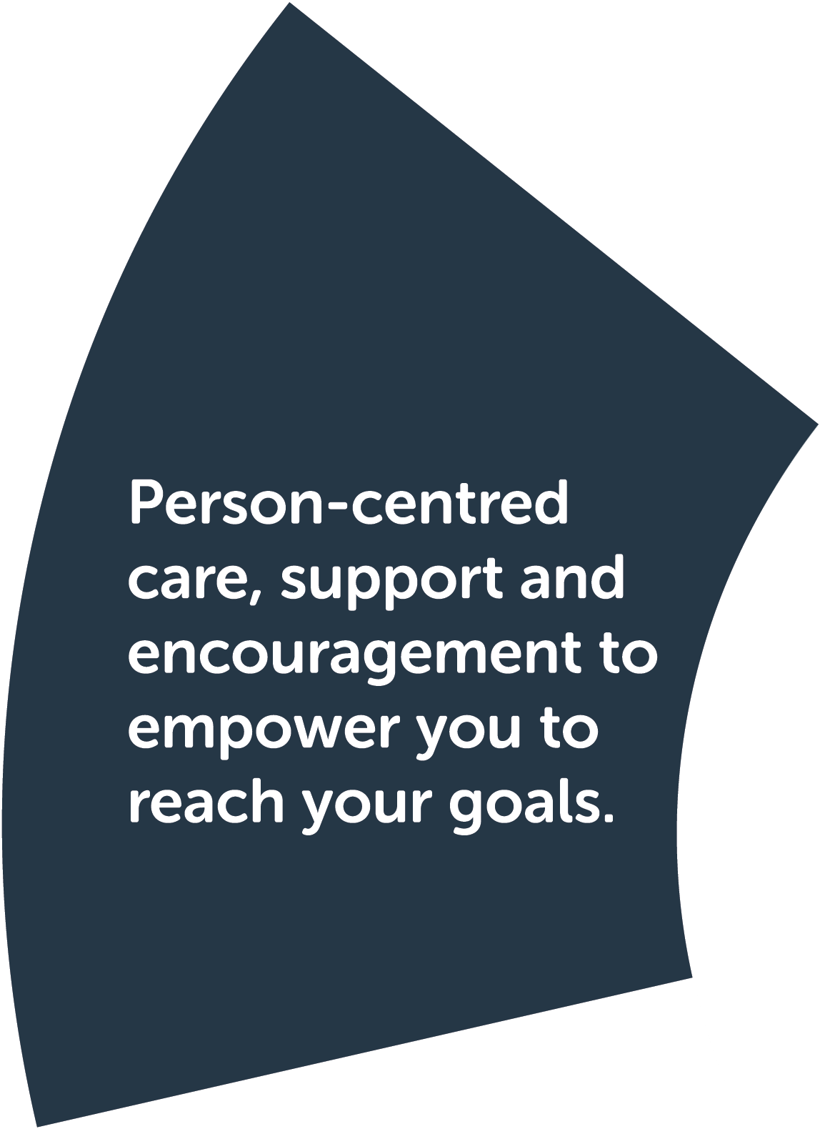 Step 6: Check my progress. Person-centred care, support and encouragement to empower you to reach your goals.